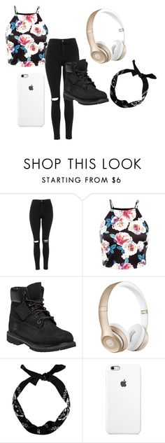 """Yass Boo"" by lovelyprincess2 ❤ liked on Polyvore featuring Topshop, Timberland, Beats by Dr. Dre, women's clothing, women, female, woman, misses and juniors"
