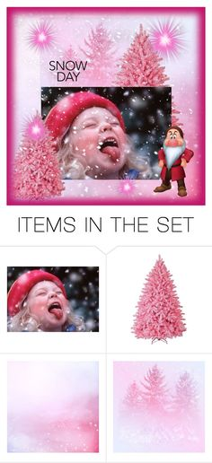 """""""Pink Snow Day"""" by sabine-713 ❤ liked on Polyvore featuring art"""
