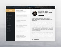 Nice use of a sidebar. Although an email client, I can see many of the features used for blog pages - Credit: Miroslav Rajković