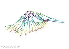 Geometric Wings, Art Print, Line Art, Printable Art.