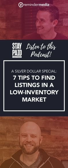 Who should listen to this Stay Paid Podcast: Real estate agents who aren't afraid to think outside the box and explore atypical places to find listings during this period of low inventory. housing market - real estate marketing ideas - house for sale - low inventory housing market Facebook Marketing, Business Marketing, Sales And Marketing, Social Media Marketing, Marketing Ideas, Marketing Strategies, Content Marketing, Digital Marketing, Business Goals