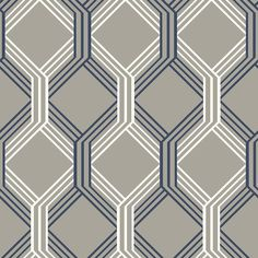 A-Street 56.4 sq. ft. Linkage Navy Trellis Wallpaper-2697-78053 - The Home Depot