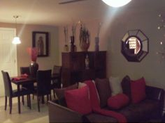 small basement apartment, living room and dining room combined ...
