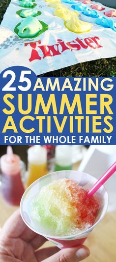 SUMMER ACTIVITIES: This list of 25 Summer Activities for kids proves that Summer is a time of food, fun, sun, and crafting! Beat the summer boredom blues with this fabulous list of activities for the whole family!