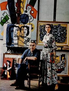 Painter Fernand Leger in Studio with Model Anne Gunning - Photo Mark Shaw 1955. Veja também: http://semioticas1.blogspot.com.br/2012/12/inventando-abstracao.html