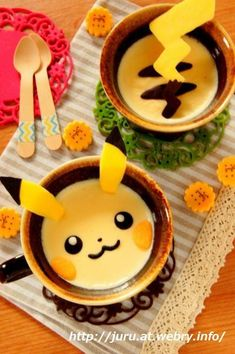Pikachu pudding – in the photo it looks like Pikachu going through a portal!