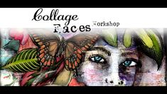 """I have always been afraid of creating faces"". I totally understand that fear and Quote Collage, Face Collage, Collage Art, Collages, Mixed Media Faces, Mixed Media Collage, Mixed Media Painting, Art Station, Texture Art"