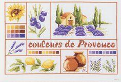 broderie au point de croix Couleurs de provence sur toile aida en kit broderie de Marie Coeur 4330