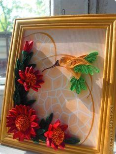 Картина, панно Квиллинг: колибри Бумажные полосы. Фото 2