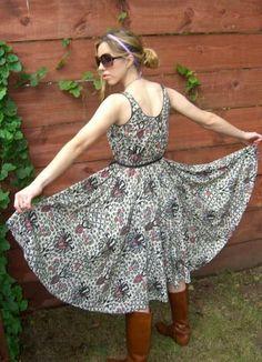 50s batik dress