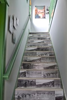 stairs carriage creative staircase collage newspaper house apartment brian paquette seabrook washington design home west elm