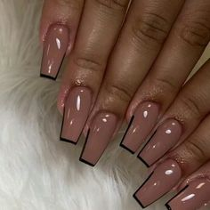 """LADIES WORLD OF CLASS on Instagram: """"Ladies would you rock these Nails.. Yes or No?? @nailsbyjohenly Follow @smoochlavee -- -- -- #Fashionmode #Styled #Hautecouture…"""" French Acrylic Nails, Pink Acrylic Nails, Purple Nails, Acrylic Nail Designs, French Nails, Glamour Nails, Classy Nails, Stylish Nails, Aycrlic Nails"""