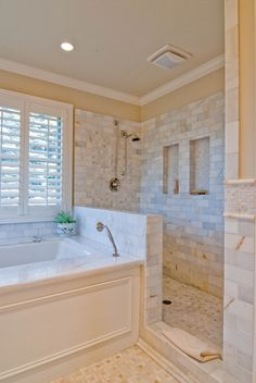 Here you could possibly obtain bathroom style on a budget, ideas for small bathrooms, guest bathroom design ideas and diy bathroom decoration Master Bedroom Bathroom, Bathroom Renos, Bathroom Ideas, Bath Ideas, Bathroom Remodeling, Master Shower, Master Baths, Bathroom Colors, Bathroom Organization