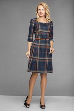 Платья в шотландскую клетку: создаст образ милой и роскошной дамы