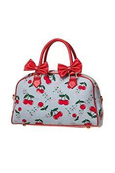 8ed7b020ddc Banned Blindside Bag - Cherries / One Size Jaren 50 Vintage, Portemonnees  En Handtassen,