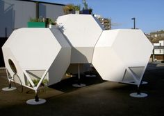 A housing system constructed from truncated octahedrons.