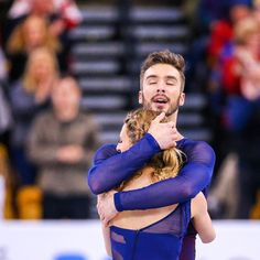 isufigureskating - April 02, 2016 at 12:46AM - That moment. #Worlds2016 ••• Gabriella Papadakis and Guillaume Cizeron of France compete during Day 4 of the ISU World Figure Skating Championships 2016 ••• #FigureSkating #FigureSkater #Skater #Skating...