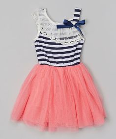 Pink Stripe Tutu Dress - Toddler & Girls #zulily #ad *too cute
