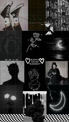 Aesthetic black, Phone wallpaper