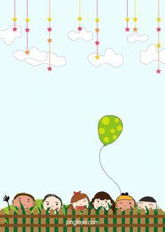 Blue Star And White Cloud Sky Cartoon Background Bamboo Background, Blue Background Images, Cartoon Background, Colorful Backgrounds, Kindergarten Posters, Kindergarten Pictures, Cartoon Trees, Cartoon Clouds, Retro Poster