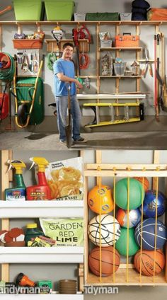 Utilize Wall Space for Storage - 49 Brilliant Garage Organization Tips, Ideas and DIY Projects
