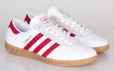 adidas Originals Hamburg 'White & Uni Red'
