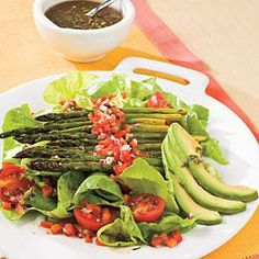 Roasted Asparagus Salad Recipe | MyRecipes.com