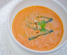 Romesco Soup. Sign-up for our weekly #meatlessmonday recipes here:  https://secure.humanesociety.org/site/SPageServer?pagename=meatlessmondaysignup&s_src=pin_post081314