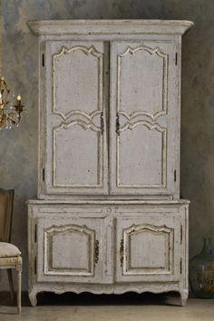 Grand Chambord Deux Pieces Armoire - Antique Armoire, Vintage Armoire, French Armoire | Soft Surroundings