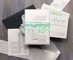 Hey, I found this really awesome Etsy listing at https://www.etsy.com/listing/91858899/elegant-script-wedding-invitations-mint