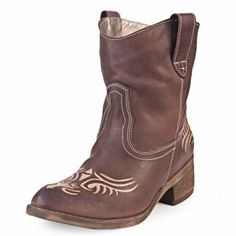 Bota Chocolate Heyas Texana con Bordado