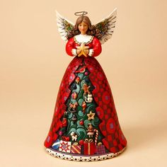 christmas spirit shines bright christmas tree angel figurine 55 - Christmas Angel Figurines