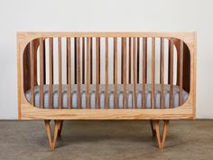 """Inspired by mid-century modern design, the Bunny & Clyde """"Harrison Cot"""" crib"""