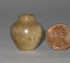"Douglas Crawforth - Radal Vase (Lomatia hirsuta) Native to Chile, California grown. The Vase is 15/16"" high x 7/8"" wide."