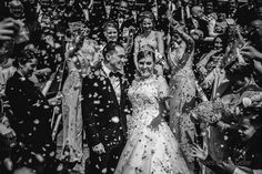 Cheshire wedding confetti, this confetti just floated around forever in the stands at Chester racecourse.