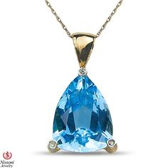 Etsy NissoniJewelry presents - Ladies Diamond Accent Pendant and chain with Blue Topaz in 10k Yellow Gold    Model Number:CP-4365BTY077    https://www.etsy.com/ru/listing/275610374/ladies-diamond-accent-pendant-and-chain