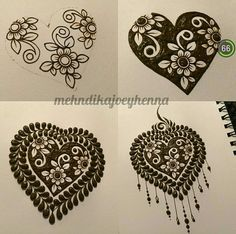I don't celebrate Valentine's Day - so this little reverse henna heart step by step will have to suffice as my observance! I do hope you all have a magical day filled with love! Mehndi Design Photos, Unique Mehndi Designs, Henna Designs Easy, Beautiful Henna Designs, Bridal Mehndi Designs, Henna Tattoo Designs, Mehndi Designs For Beginners, Mehndi Designs For Fingers, Step By Step Henna