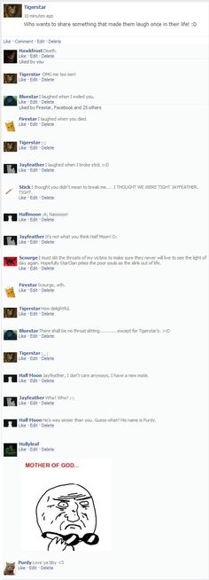 warrior cats facebook - Google Search Scourge- delightful ;)