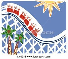 rollercoast sketches   Clip Art of People on a roller coaster ride kle0382 - Search Clipart ...