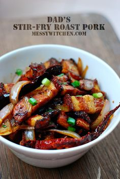 Stir Fried Roast Pork (Pork yeow)