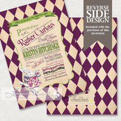 Mad Hatter Tea Party Baby Shower Invitations 2