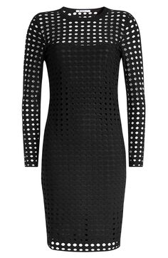 T BY ALEXANDER WANG Mini Dress with Cut-Out Pattern. #tbyalexanderwang #cloth #day dresses