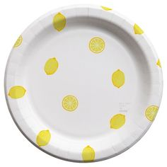 """Whitney Port for Cheeky® 10"""" Lemon Dots Paper Plates   Set your table in style! Whitney Port for Cheeky® is a limited-edition collection of disposable tableware available exclusively at Target. Together, Cheeky and Whitney hope to inspire people to put their phones down and enjoy special moments together at any table. More importantly, with every pack of Whitney Port for Cheeky you buy, Cheeky will give a meal to someone in need  here in the U.S."""