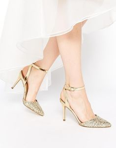 New Look | New Look Pointed Toe Shoes with Glitter at ASOS
