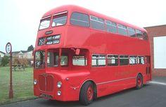 Midland Red BHA at the Transport Museum Wythall Blue Bus, Red Bus, Transport Museum, Public Transport, Routemaster, Birmingham Uk, Double Deck, Bus Coach, Wolverhampton