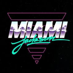 MIAMI JACKSON LOGOS on Behance  AMD - digging the palm tree overlay on miami!