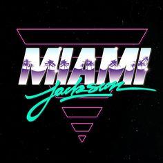 MIAMI JACKSON LOGOS on Behance  AMD - digging the palm tree overlay on miami!