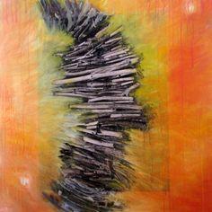 "Paula Estey ""Heart Ladder II"" Mixed Media on Canvas on Wood, Mixed Media Painting, Mixed Media Canvas, Different Media, Make Art, Local Artists, Public Art, Ladder, Gallery, Heart"