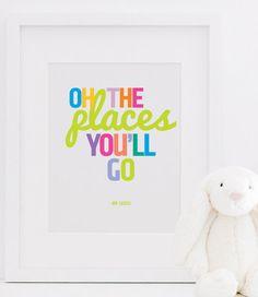 Dr. Seuss print #kidsbedroomdecor #nurserydecor