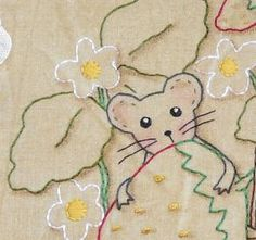 Summer mouse strawberry embroidery Pattern PDF  by Hudsonsholidays
